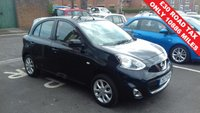 USED 2017 17 NISSAN MICRA 1.2 ACENTA 5d 79 BHP ONLY 10886 MILES FROM NEW NISSAN WARRANTY, CHEAP TO RUN , LOW CO2 EMISSIONS. GOOD FUEL ECONOMY AND EXCELLENT SPEC INCLUDING AUXILIARY INPUT AND ELECTRIC FRONT WINDOWS! MEETS ALL LARGE CITY EMISSION STANDARDS.