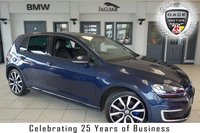 USED 2015 15 VOLKSWAGEN GOLF 1.4 GTE 5d AUTO 150 BHP FINISHED IN STUNNING DEEP SEA BLUE WITH FULL BLACK LEATHER SEATS + FULL VW SERVICE HISTORY + BLUETOOTH + FREE ROAD TAX + 18 INCH ALLOYS + HEATED FRONT SEATS + CRUISE CONTROL + R-LINE STYLING PACK + 2 ZONE ELECTRIC CLIMATE CONTROL + DAB RADIO + PARKING SENSORS