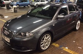 """2006 AUDI A3 2.0 T FSI S LINE SPECIAL LINE 5d 200 BHP FULL HEATED LEATHER 18"""" MULTI-SPOKE ALLOYS ICE-COLD CLIMATE S LINE SPORTS SUSPENSION  £6990.00"""