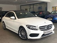 "USED 2015 15 MERCEDES-BENZ C CLASS 2.1 C220 BLUETEC AMG LINE PREMIUM 4d AUTO 170 BHP +PAN ROOF+SAT NAV+19"" ALLOYS+"