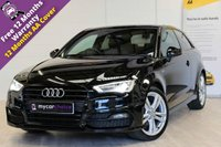 USED 2015 15 AUDI A3 1.4 TFSI S LINE 3d 148 BHP BLACK STYLING PACK, MASSIVE SPEC, NAV, HEATED SEATS, FSH