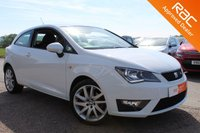 USED 2016 16 SEAT IBIZA 1.2 TSI FR TECHNOLOGY 3d 109 BHP VIEW AND RESERVE ONLINE OR CALL 01527-853940 FOR MORE INFO.