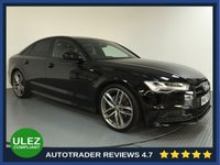 USED 2017 67 AUDI A6 2.0 TDI ULTRA BLACK EDITION 4d AUTO 188 BHP SERVICE HISTORY - 1 OWNER - SAT NAV - LEATHER - EURO 6 - 20' ALLOYS - AIR CON - BLUETOOTH - DAB
