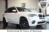 "USED 2012 62 BMW X5 3.0 XDRIVE30D M SPORT 5DR AUTO 241 BHP full service history *NO ADMIN FEES* FINISHED IN STUNNING ALPINE WHITE WITH FULL BLACK LEATHER INTERIOR + FULL SERVICE HISTORY + SATELLITE NAVIGATION + BLUETOOTH + XENON LIGHTS + REAR-VIEW CAMERA WITH TOP VIEW + HEATED COMFORT SEATS WITH MEMORY + 7 SEATS + CRUISE CONTROL + AUTO AIR CON + DAB RADIO + VOICE CONTROL + LIGHT PACKAGE + RAIN SENSORS + PARKING SENSORS + 20"" ALLOY WHEELS"