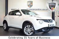 """USED 2012 12 NISSAN JUKE 1.5 TEKNA DCI 5DR 110 BHP full service history FINISHED IN STUNNING WHITE WITH FULL BLACK LEATHER INTERIOR + FULL SERVICE HISTORY + SATELLITE NAVIGATION + BLUETOOTH + REAR-VIEW CAMERA + HEATED SEATS + CRUISE CONTROL + AUX PORT + AIR CONDITIONING + 17"""" ALLOY WHEELS"""