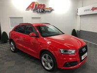2015 AUDI Q3 2.0 TDI QUATTRO S LINE PLUS 5d AUTO 177 BHP FACTORY PRIVACY/BLACK PACK £14500.00