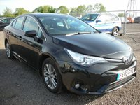 USED 2015 65 TOYOTA AVENSIS 1.6 D-4D BUSINESS EDITION 4d 110 BHP 1 Previous owner - Sat nav - Cheap tax