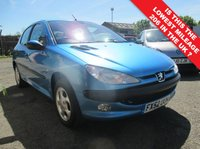 USED 2002 52 PEUGEOT 206 1.4 GLX 5d 74 BHP THIS CAR HAS AVERAGED ONLY 410 MILES PER YEAR