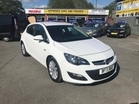 2013 VAUXHALL ASTRA 1.7 TECH LINE CDTI ECOFLEX S/S 5d 108 BHP IN METALLIC WHITE WITH 84,000 MILES £4399.00