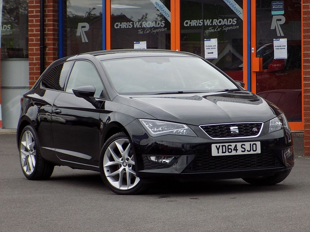 """USED 2014 64 SEAT LEON 2.0 TDI FR 3dr (Technology Pack) Convenience Pack + 18"""" Alloys"""