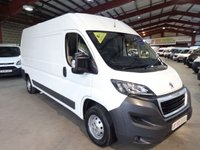 """USED 2016 65 PEUGEOT BOXER 2.2 HDI 335 L3H2 PROFESSIONAL 130 BHP LWB HI ROOF VAN """"YOU'RE IN SAFE HANDS"""" - AA DEALER PROMISE"""