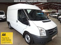 "USED 2013 13 FORD TRANSIT 2.2 280  100 BHP SWB VAN WITH SHELVING & AIR CON ""YOU'RE IN SAFE HANDS"" - AA DEALER PROMISE"
