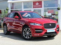 "USED 2017 66 JAGUAR F-PACE 2.0 R-SPORT 5d 178 BHP STUNNING, 1 OWNER, ONLY £140 ROAD TAX PER YEAR, 19"" Sports Alloys, JAGUAR F-PACE, 2.0 R-SPORT, 180 BHP AUTO. Finished in fiery ITALIAN RACING RED METALIC with contrasting Full HEATED LEATHER. This handsome SUV is both fun to drive and practical. Features include Sat Nav, DAB, CRUISE CONTROL, Climate Leather Seats Electric Boot and much more."