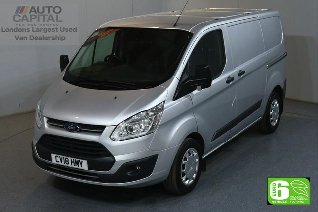 2018 18 FORD TRANSIT CUSTOM 2.0 290 TREND L1 H1 SWB LOW ROOF AUTO GEARBOX 129 BHP EURO 6 AUTOMATIC GEARBOX, ONE OWNER, MANUFACTURER WARRANTY UNTILL 14/08/2021
