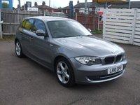 USED 2010 10 BMW 1 SERIES 116i 2.0 Sport 5 door Petrol 6 speed. Metallic grey.