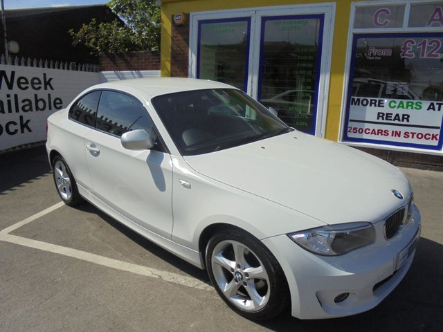USED 2012 12 BMW 1 SERIES 2.0 118D EXCLUSIVE EDITION 2d 141 BHP FULL BLACK LEATHER ONE OWNER FROM NEW