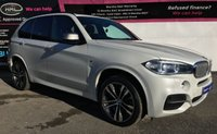 USED 2015 65 BMW X5 3.0 M50D 5d AUTO 376 BHP PEARL WHITE - 7 SEATER - M50D - LOW MILEAGE
