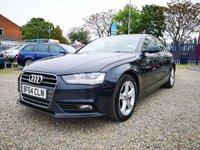 USED 2014 64 AUDI A4 2.0 TDI SE 4d 134 BHP +£30 ROAD TAX / HEATED SEATS+
