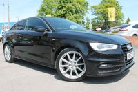 USED 2014 63 AUDI A3 1.6 TDI S LINE 3d 104 BHP LOW MILES - EXCELLENT SERVICE HISTORY - HALF LEATHER INTERIOR - FREE ROAD TAX - MUST BE SEEN