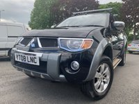 USED 2008 08 MITSUBISHI L200 2.5 ANIMAL LWB DCB 1d 164 BHP 2KEY+CAMBELT 2015+FSH+LEATHER+