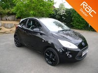 USED 2016 16 FORD KA 1.2 ZETEC BLACK EDITION 3d 69 BHP Very Low Mileage! Cheap To Tax! Cheap Insurance! Alloy Wheels, AUX Input, Air Con