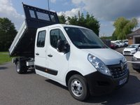 USED 2016 16 RENAULT MASTER LL35 BUSINESS CREWCAB TIPPER DRW 2.3 DCI 125 BHP Direct From One Company Owner Only 18000 Miles, Fitted With Scattaloni Alloy Tipper Body, Tow Bar And Roof Beacon, Very Clean Original Example!