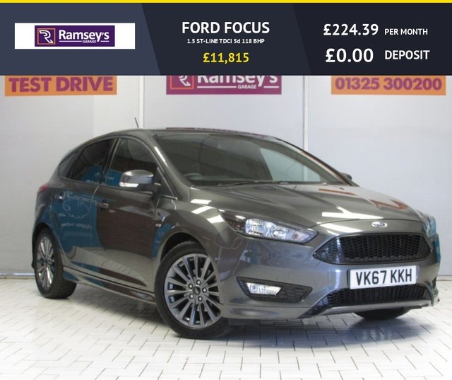 USED 2017 67 FORD FOCUS 1.5 ST-LINE TDCI 5d 118 BHP