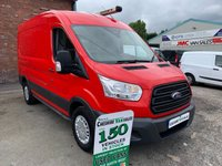 2015 FORD TRANSIT 2.2 350 125 BHP MWB MED ROOF 1 OWNER FULL SERVICE HISTORY AIR CON  £8995.00