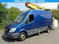 USED 2010 10 MERCEDES-BENZ SPRINTER 513 2.1CDI MWB 129 BHP PANEL VAN WITH VERSA EUROTEL CHERRY PICKER +1 OWNER+13M REACH+