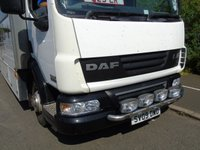 USED 2009 09 DAF TRUCKS LF 6.7 FA45.220 7.5TONNE E4 225 BHP CAMPER RACE CAR/BAND TRUCK TOILET/SHOWER/KITCHEN+BUNKBEDS