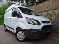2015 FORD TRANSIT CUSTOM 2.2 290 LR P/V 1d 99 BHP SWB HIGH ROOF £8490.00