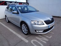USED 2015 15 SKODA OCTAVIA 2.0 ELEGANCE TDI CR DSG 5d AUTO 148 BHP £185 A MONTH HALF LEATHER SATELLITE NAVIGATION  HALF LEATHER PARKING SENSORS ALLOY WHEELS