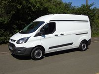 2015 FORD TRANSIT CUSTOM T290 2.2TDCI 99 BHP LWB HIGH ROOF PANEL VAN £7750.00
