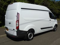 USED 2015 15 FORD TRANSIT CUSTOM T290 2.2TDCI 99 BHP LWB HIGH ROOF PANEL VAN FRONT AND REAR PARKING SENSOR+1 OWNER