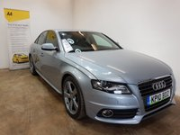 USED 2010 10 AUDI A4 2.0 TDI S LINE 4d AUTO 141 BHP FULL SERVICE HISTORY 7 STAMPS IN THE SERVICE BOOK