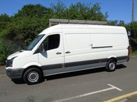 USED 2014 14 VOLKSWAGEN CRAFTER 2.0 CR35 BLUEMOTION TDI 161 BHP LWB PANEL VAN GLASS CARRIER/THRAIL CRUISE+161BHP+GLASS THRAIL+