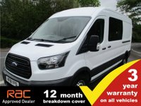 USED 2018 18 FORD TRANSIT DCIV 350 L3 H2 130ps Euro6 Crew van. 3 Year warranty.