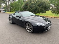 USED 2008 08 ASTON MARTIN VANTAGE 4.3 V8 ROADSTER 2d AUTO 380 BHP STUNNING IN BLACK ONLY 38000 MILES BACKED UP BY FULL SERVICE HISTORY