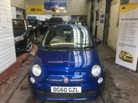 USED 2010 60 FIAT 500 1.2 POP 3d 69 BHP LOW INSIRANCE +LOW ROAD TAX 12 MONTHS MOT ++ FULL SERVICE HISTORY + HPI CLEAR ++ REAL MILEAGE REAL CAR LOW TAX BAND ++ LOW INSURANCE LOW TAX BAND ++ AA STANDER 99 POINT CHECK LIST ++  THIS VEHICLE VERY WELL cared FOR EXTERIOR CONDITION AND THE INTERIOR RESEMBLES A MUCH LOWER MILEAGE ++FULL HPI CLEAR ++ LOW INSURANCE AND LOW TAX BAND ++ MONTHS WARRANTY FREE OF CHARGE WITH THE CAR ++ ZERO DEPO FINANCE AVAILABLE PLEASE ASK ++LOW INSURANCE BEEN A SMALL ENGINE++NATIONWIDE WARRANTY PACKAGE INCLUDED+WE ARRANGE FINANCE FOR YOU REG