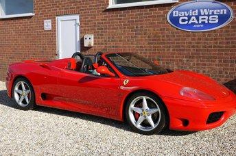 2001 FERRARI 360 360 F1 Spyder £SOLD