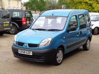 USED 2008 58 RENAULT KANGOO 1.6 AUTHENTIQUE 16V 5d AUTO 94 BHP 49000 miles fsh rear wheel chair  ramp fitted