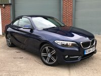 USED 2014 64 BMW 2 SERIES 2.0 218D SPORT 2d 141 BHP