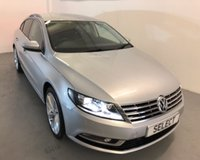 """USED 2014 64 VOLKSWAGEN CC 2.0 GT TDI BLUEMOTION TECHNOLOGY DSG 4d AUTO 138 BHP Stunning LOW MILEAGE CC GT with full black leather,Sat Nav, 18"""" alloys, blue tooth and only 56,000 miles -"""
