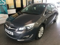 USED 2013 63 VAUXHALL ASTRA 1.6 ELITE 5d AUTO 115 BHP This fully automatic petrol Astra Elite Edition is fitted with heated leather seats & is finished in Metallic asteroid grey. It is fitted with Front & Rear Park assist, auto lights cruise control, remote locking, electric windows, power fold mirrors, climatic air conditioning, alloy wheels, CD Stereo with Aux port and more It has had 2 private owners from new and been serviced by Vauxhall @ 1633/7238/13942/17727/20399 miles (August 2018). We will supply it with a service ,12 months MOT.