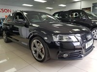 USED 2011 61 AUDI A3 2.0 TDI QUATTRO S LINE BLACK EDITION+SERVICE HISTORY+LEATHER+ROTOR ALLOYS+