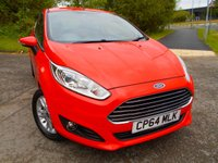 USED 2015 64 FORD FIESTA 1.2 ZETEC 3d 81 BHP ** ONE OWNER FROM NEW , £30 ROAD TAX, YES ONLY 41K,  PRISTINE EXAMPLE **