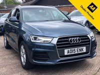 USED 2015 15 AUDI Q3 1.4 TFSI SE 5dr 148 BHP One company owner, Full Audi main dealer service history.