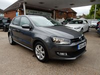 USED 2014 14 VOLKSWAGEN POLO 1.2 MATCH EDITION 5d 59 BHP PARKING SENSORS,BLUETOOTH,AIR CON,AUX PORT,MEDIA INPUT