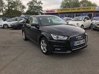 USED 2017 66 AUDI A1 1.4 TFSI SPORT 3DOOR 123 BHP IN BLACK WITH FULL SERVICE HISTORY,SAT NAV,ONE OWNER GREAT CONDITION. APPROVED CARS AND FINANCE ARE PLEASED TO OFFER THIS AUDI A1 1.4 TFSI SPORT 3DOOR 123 BHP IN BLACK. THIS CAR COMES WITH A HUGE SPEC INCLUDING ABS,POWER STEERING,HALF LEATHER,ALLOY WHEELS,METALLIC PAINT,CD PLAYER,SAT NAV,CRUISE CONTROL,CLIMATE CONTROL,LCD DISPLAY,FULL SERVICE HISTORY AT 9K AND 18K MILES. TRULY A GREAT CAR AND ONE THAT NEEDS TO BE SEEN. PLEASE CALL 01622-871-555 TO BOOK YOUR TEST DRIVE TODAY.