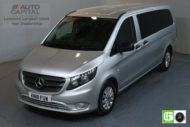 2018 18 MERCEDES-BENZ VITO 2.1 114 BLUETEC TOURER SELECT 5d 136 BHP AUTO RWD LWB A/C REV.CAM MINIBUS 9 SEAT EURO 6 £24490+VAT, MANUFACTURER WARRANTY UNTIL 27/03/2021